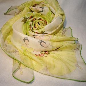 Vintage silk ballerina scarf